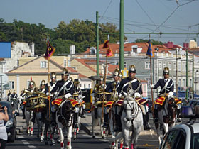 共和国樹立記念日の騎馬隊パレード